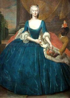 Jacob Wessel (1710-1780) Portrait of Magdalena Radziwiłł nee Czapska.