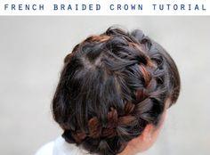 French Braid Crown tutorial