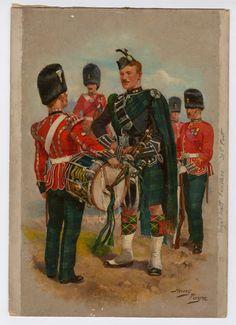 Royal Scots Fusiliers, by Harry Payne Edwardian Era, Victorian, League Of Extraordinary Gentlemen, British Uniforms, British Army, Military Art, World War I, Illustration, Red Coats