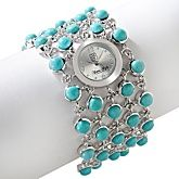 fun Turquoise bracelet watch  HSN