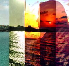 """Collage I made of me in Summertime """"Sunset Daydream"""""""