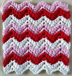 Valentine Ripple Dishcloth – free pattern @ Maggie Weldon Maggies Crochet