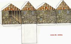 Ideias e dicas para trabalhar o nosso PORTUGAL na pré | Sítio da Educação Pen & Paper, Paper Glue, Paper Toys, N Scale Buildings, Brick Paper, Free Paper Models, House Template, Christmas Scenes, Mini Things