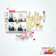 The Studio Challenges by Flora Monika Farkas, Crate Paper Hello Love