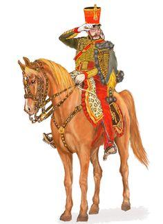 Colonnello del 7 rgt. ussari francese