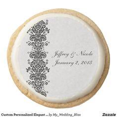 Custom Personalized Elegant Wedding Cookies