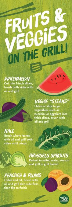 Throw fruits and veggies on the grill... It'll concentrate the natural sugars and really intensify the flavor! #summer #grill