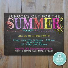 Summer Party Invitation / EDITABLE INVITATION by FancyShmancyNotes, $10.00