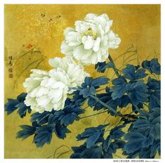 Traditional Chinese flower painting by Zou Chuan'an