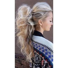 25 Elegant Ponytail Hairstyles for Special Occasions ❤ liked on Polyvore featuring hair and beauty