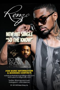"R&B ARTIST RENZO DROPS NEW SINGLE ""So They Know"" #newmusic"