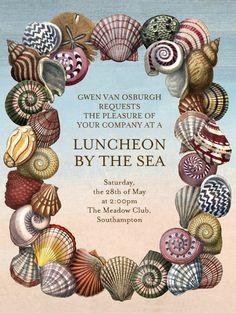 """""""Shells Frame"""" Invitation, by John Derian, Paperless Post. http://paperless.ly/I7PmAM"""