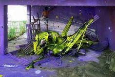 Une sélection des superbes créations street art de l'artisteRemo Lienhard, aka Wes21,appartenantau collectif suisseSchwarzmaler, qui utilise tout son