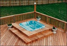 Hot tub installed on a tall deck.This provided the necessary support for the.deck with hot tubs.A locking cover for your spa and constant adult supervision are essential if you have children or young guests.deck designs with hot tub. Hot Tub Backyard, Backyard Patio, Backyard Ideas, Deck Framing, Hot Tub Cover, Pergola Patio, Patio Decks, Diy Deck, Pergola Ideas