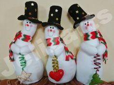Muñecos de nieve derretidos