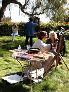 Summerland Cottage Studio: Art in the Garden Party