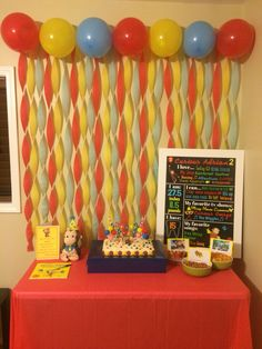 Curious George birthday party cake table!