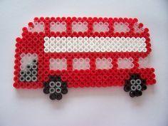 london bus / hama perler beads