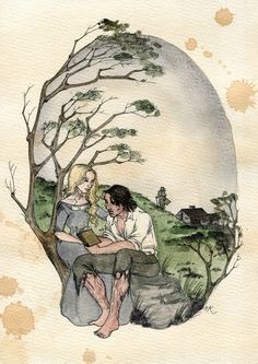 As much as I love Wuthering Heights, I've always been a bit annoyed that Cathy Jr. and Hareton never got as much love as their predecessors did. Cathy and Hareton Jane Austen, Bronte Novels, Disney Princess Movies, Book Tree, Exo Fan Art, Wuthering Heights, Cute Stories, Classic Books, Photo Quotes