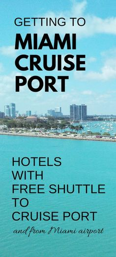 Getting to Miami cruise port for your Caribbean cruise from Florida. Miami hotels with free shuttle to cruise port, and hotels with free shuttle from Miami airport, pickup. Things to do before your cruise as you make that checklist for what to wear and what to pack for your cruise packing list! Popular cruise lines out of Miami: Carnival, Royal Caribbean, Disney cruise, NCL Norwegian. Not far from Miami Beach or South Beach. Hotels near Miami cruise port, map. #cruise #cruisetips