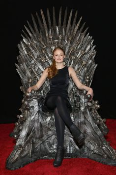 Sophie Turner on the Game of Thrones