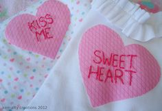 diy heart applique shirts