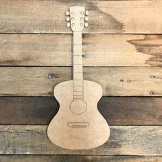Acoustic Guitar Cutout, Wood Shape, Paint by Line Acoustic Guitar Tattoo, Best Acoustic Guitar, Guitar Art, Fender Acoustic, Wooden Cutouts, Wooden Shapes, Wooden Crafts, Wooden Diy, Wooden Letters