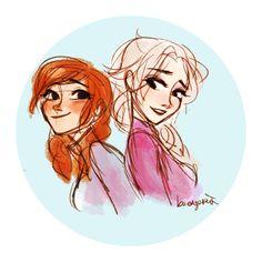 Anna and Elsa Disney Family, Disney Love, Disney Art, Disney Pixar, Frozen Drawings, Disney Drawings, Disney Blu Ray, Blu Ray Collection, Frozen Sisters