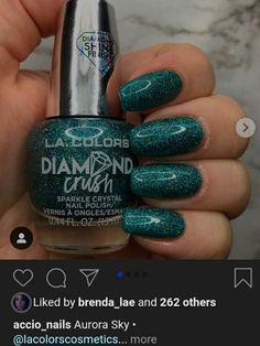 Aurora Sky, Nail Polish, Crystals, Nails, Colors, Beauty, Ongles, Finger Nails, Nail Polishes