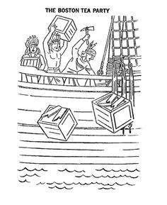 boston tea party coloring pages | coloring pages revolutionary war