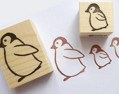 Penguin rubber stamp