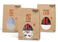 Successful #package #design for a new brand of men's underwear.  A little edgy but clever. PD