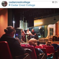 Reposted by @charlesshaughnessy Happening now: Susan Fallender, Charles Shaughnessy, and Frank Megna answer questions about our A&E marketing course @cedarcrestcollege #RelatedBiBlood @squadbridge @Cedar Crest College