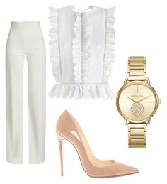 """""""xo15"""" by brey322 on Polyvore featuring Brandon Maxwell, Zimmermann, Christian Louboutin and Michael Kors"""