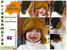 Nähanleitungen Kind - Fliegermütze, Mütze,warme Ohren,Ebook,Nähanleitung - ein Designerstück von MummelitoDIY bei DaWanda