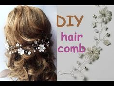 Beautiful. Perfect for DIY brides :EASY DIY Hair Comb Tiara Bridal Headpiece Hair Vine Tutorial Crown - YouTube