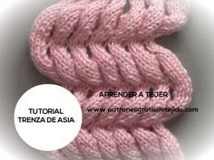 Clase gratis de tejido dos agujas como tejer el punto trenza de Asia paso a paso Crochet For Beginners, Knitting Stitches, Knitted Hats, Asia, Crafts, Knitting Tutorials, Knitted Booties, Shape, Knit Shawls