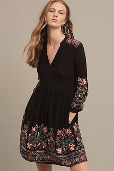 Embroidered Avery Dress #anthropologie
