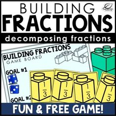 Decomposing Fractions using Unit Fractions Game | Free | TpT Equivalent Expressions, Operations With Fractions, Fraction Games, Going Fishing, Free Games, Board Games, The Unit, Student, Teaching