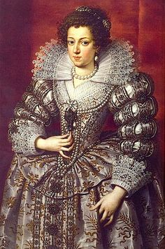 Elisabeth Bourbon of France, Queen of Spain, eldest daughter of King Henry IV. of France and Maria de Medici, first Wife of King Philip IV of Spain  - copy of painting