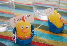 Segnaposti fai da te per la tavola di Pasqua