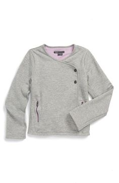Vince 'Luxe' Pima Cotton Moto Jacket (Toddler Girls & Little Girls) available at #Nordstrom