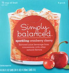 Read our review of Simply Balanced Sparkling Cranberry Cherry Juice Beverage.