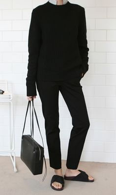 all black look #style #fashion