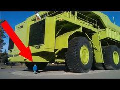 Biggest wheel loader in the world 70 yard super high lift LeTourneau L2350 - YouTube