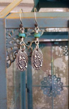 Artisan Sterling Silver Earrings  Bali French by CountryChicCharms, $26.00