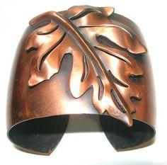 Mixed Metal Jewelry, Leaf Jewelry, Gypsy Jewelry, Fall Jewelry, Copper Jewelry, Copper Cuff, Copper Necklace, Copper Bracelet, Metal Bracelets