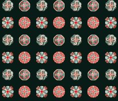 Jellyfish Dots on black fabric by jellymania on Spoonflower - custom fabric