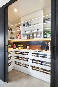 Kitchen storage meets style with Rosemount Kitchens Kitchen storage meets style .- Kitchen storage meets style with Rosemount Kitchens Kitchen storage meets style with Rosemount Kitch Pantry Room, Pantry Storage, Kitchen Storage, Pantry Shelving, Storage Drawers, Open Shelving, Shelves, Kitchen Pantry Design, Home Decor Kitchen