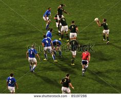 Rugby World Cup 2011 match between South Africa and Namibia at the North Shore Stadium in Auckland, New Zealand on September - stock photo Rugby World Cup, September 22, North Shore, Auckland, South Africa, Stock Photos, Sports, Photography, Design